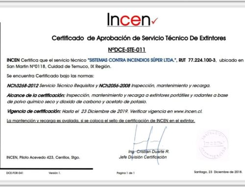 Renovación Certificación Servicio Técnico